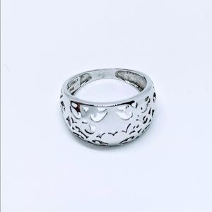 ✨14k solid white gold Dome Ring - ONE OF A KIND✨